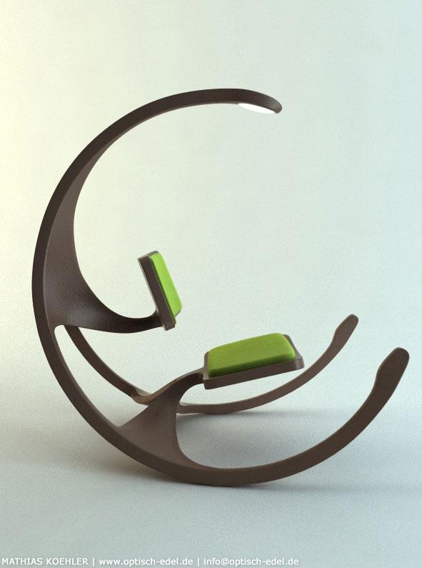 Le Rocking Wheel Chair, le rocking Chair design