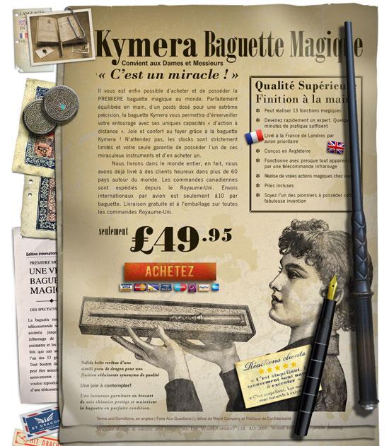 baguette magique télécommande Kymera