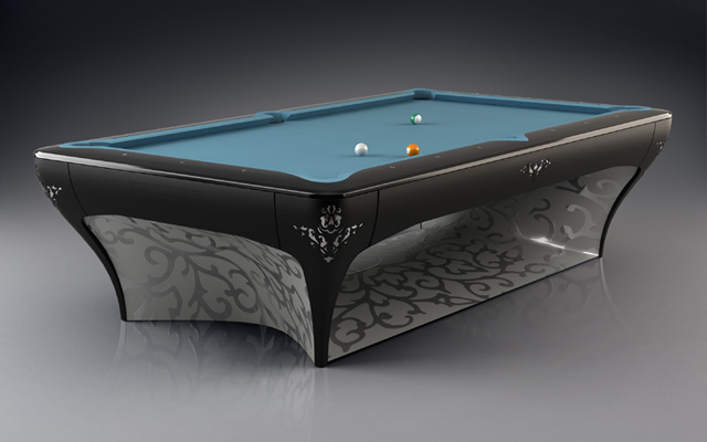 billard design pas cher table de lit a roulettes. Black Bedroom Furniture Sets. Home Design Ideas