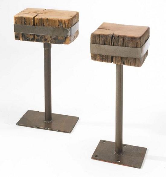 chaises de bar en bois