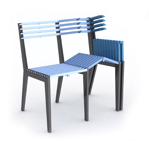Table loop et chaises design for Chaises pliables