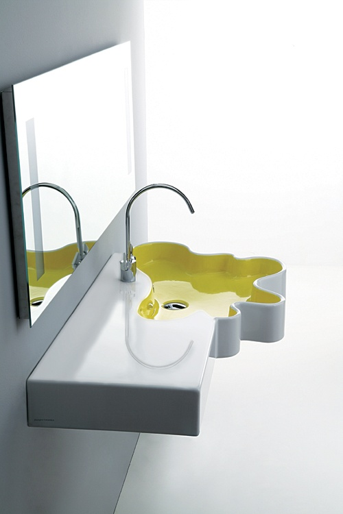 lavabo et bac à douche Splash Collection de Disegno Ceramica