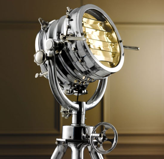 Lampadaire design projecteur Sealight