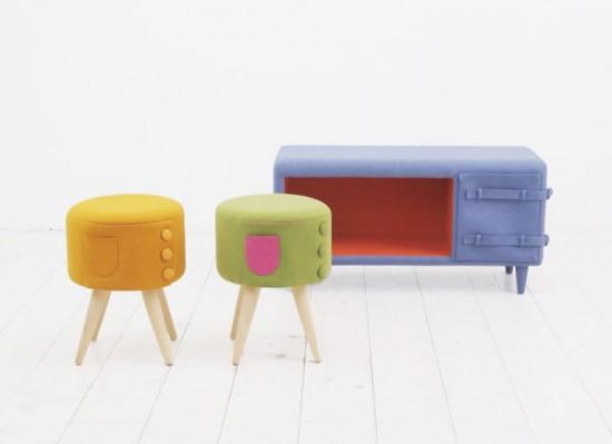 meubles en feutrine Belt Felt par Kamkam