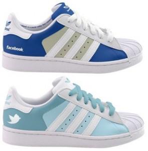 Adidas facebook et Twitter