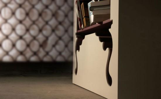 Armoire vintage style baroque - détails