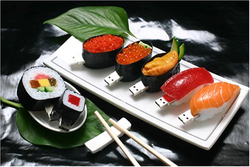 Plateau de clés usb sushi