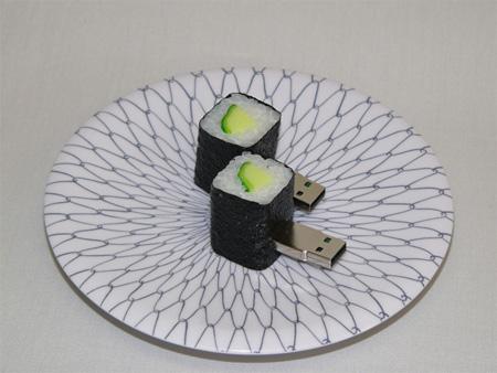 clés usb sushi