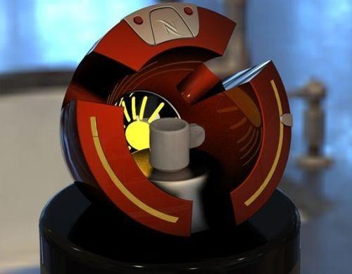 machine à café Cafeé'inn, la machine à café de Tony Stark (Iron Man)