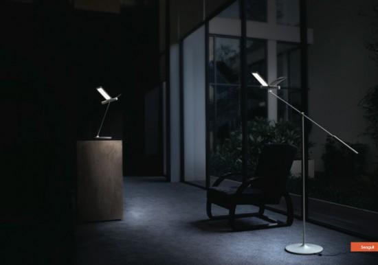 Lampadaire design à led Seagull