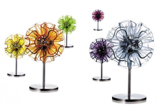 Lampe à led design Corail - détail coloris