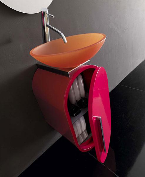 Meubles de salles de bains design for Salle de bain pop