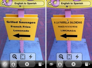 Application pour iphone - traducteur Word Lens