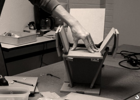 maquette du fauteuil Jack