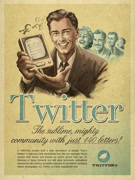 Affiche tweeter vintage