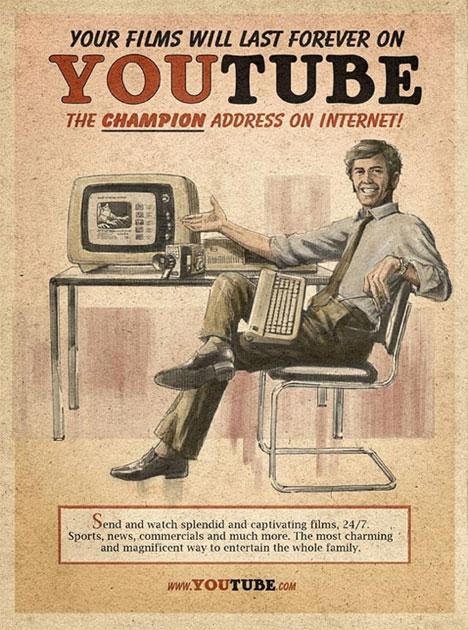 Affiche youtube vintage