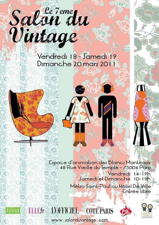 Affiche du 7eme salon du Vintage à Paris