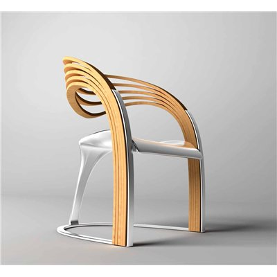 Chaise elaxa en bois et m tal for Meuble chaise design