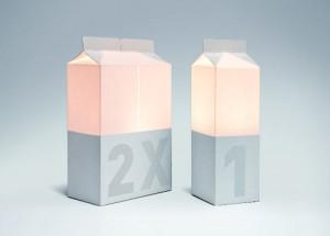 Lampe carton