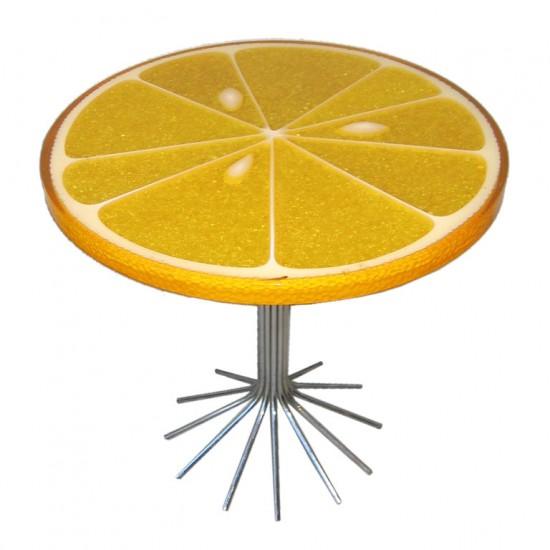 Table de bistrot tranche d'orange