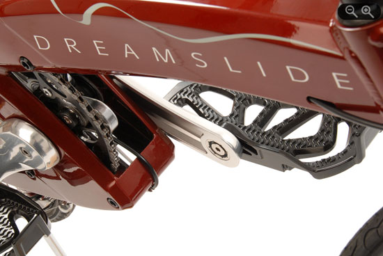 Vélo dreamslide avec nouveau mode de propulsion