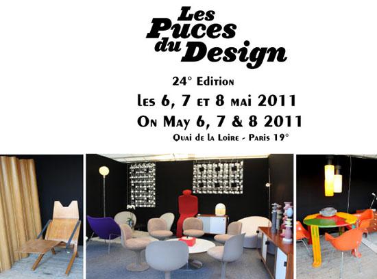 24 me dition des puces du design paris 6 7 et 8 mai 2011. Black Bedroom Furniture Sets. Home Design Ideas