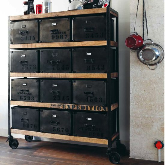 Du mobilier style vintage et industriel abordable for Meuble retro industriel