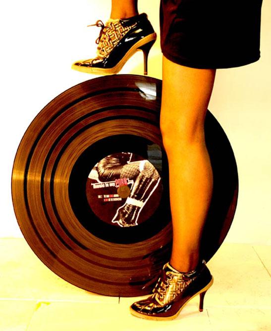 Disques vinyles géants kiteaz - 66 tours
