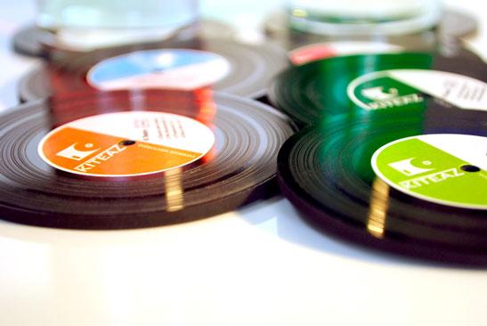 Disques vinyles sous bock