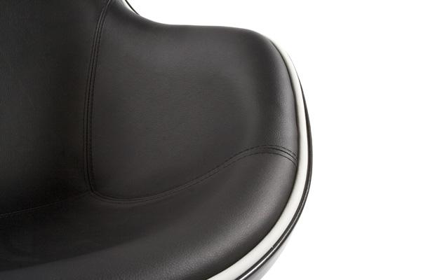 fauteuil coquille noir - détail