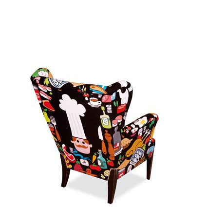 Fauteuil food by AK-LH - dos