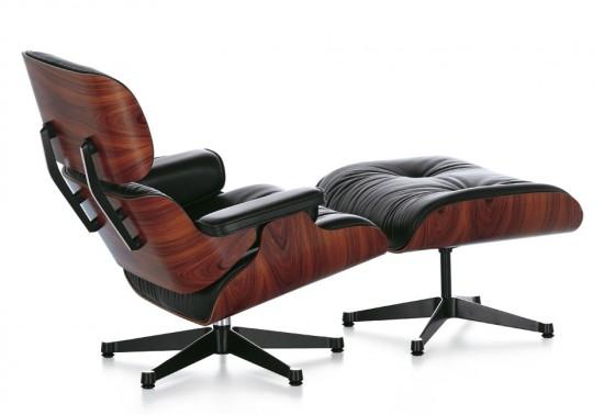Fauteuil Lounge Chair acajou