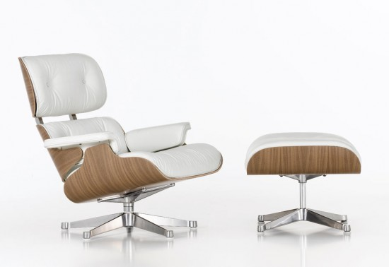 Fauteuil Lounge Chair blanc
