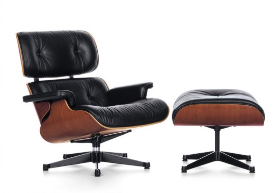Lounge Chair de Charles et Ray Eames - face
