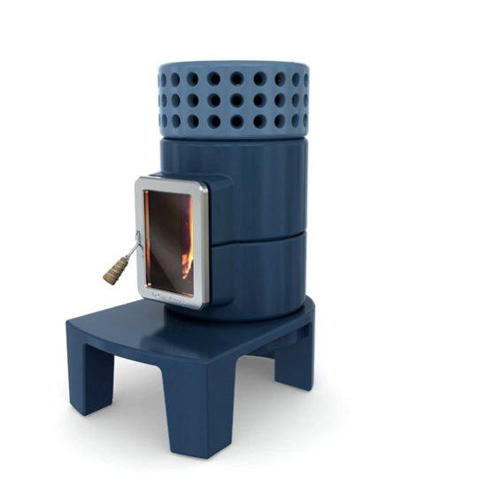 Poêle à bois Stack par Adriano Design