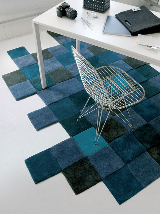 Tapis Do-Lo-Rez bleu