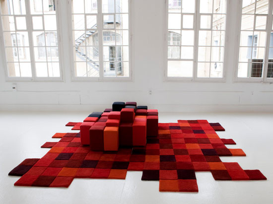 Tapis Do-Lo-Rez rouge