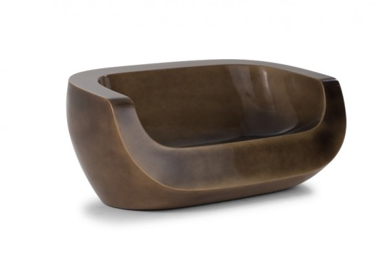 Fauteuil design Moon Chair Duo couleur bronze