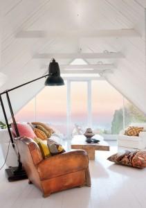 Idée salon avec fauteuil cuir vintage