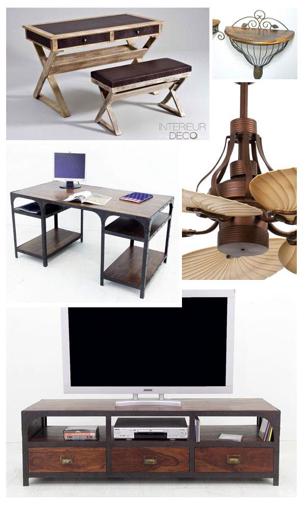 bureaux, meubles tv et ventilateurs design
