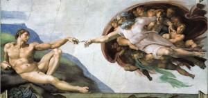 Michel Ange - La création d'Adam