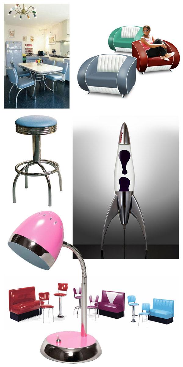meubles et objets vintages des années 50 - 60