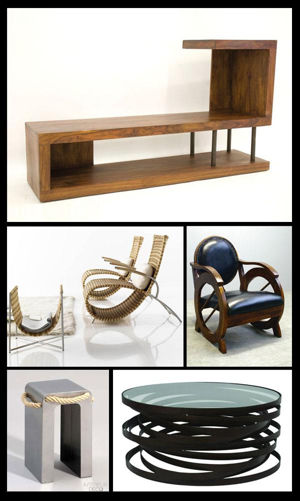 Fauteuils étagères et tables basses design