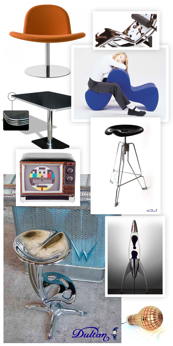 mobiliers et objets d co design vintage des ann es 50 60. Black Bedroom Furniture Sets. Home Design Ideas