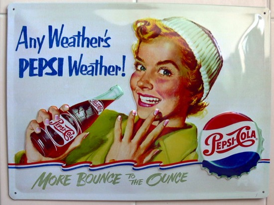 plaque métal Pepsi-Cola