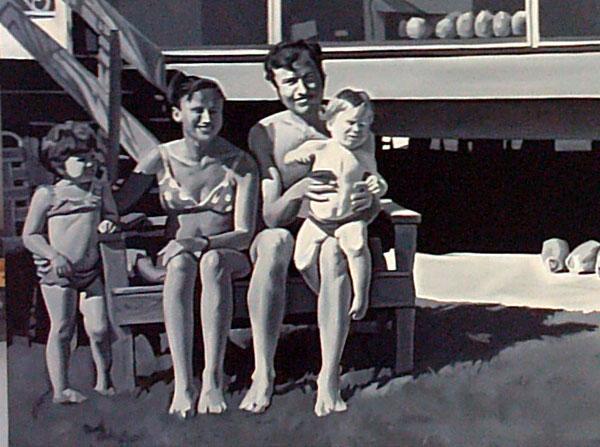 """détail du tableau """"Family"""" de Matteo Mezzetta"""