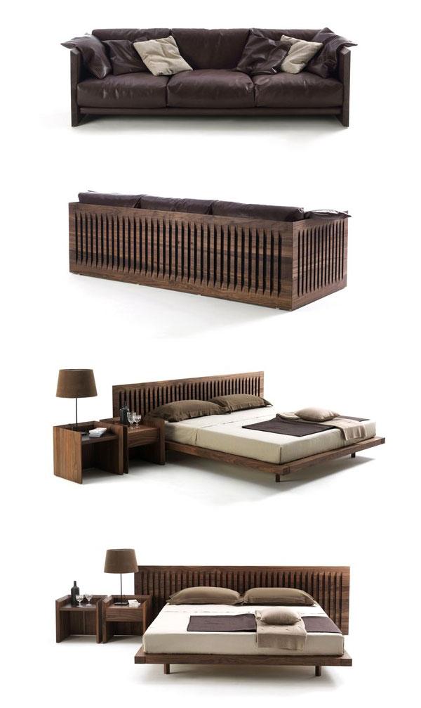 Canapé et lit Soft Wood