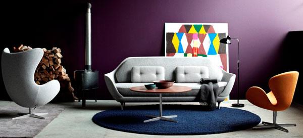 Mise en situation du mobilier du designer Arne Jacobsen
