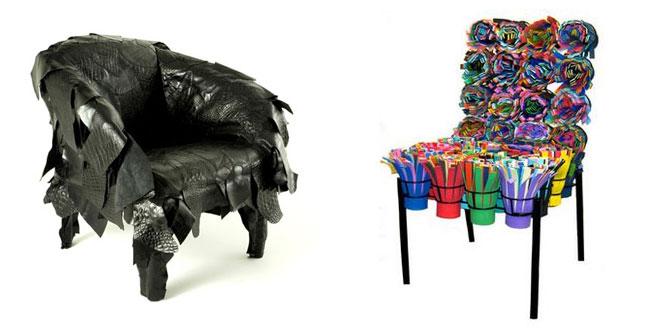 chaises design par les frères Campana