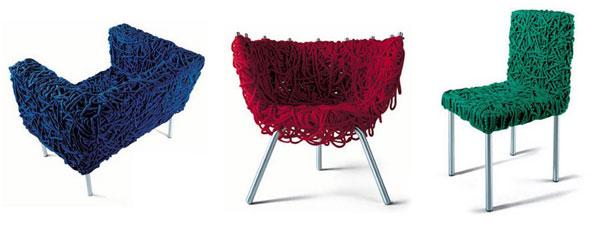 Chaises design Fernando et Humberto Campana